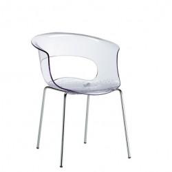 Chaise design transparente MISS B restaurant