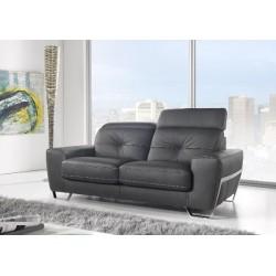 Canapé en cuir noir KUBE par satis