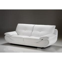 Satis Canapé contemporain en cuir blanc design NEW ZELAND