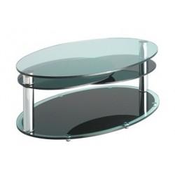 Table basse de salon TOULOUSE en verre transparent